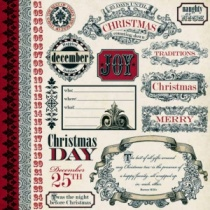 Teresa Collins Noel Tags & Borders 12 inch paper