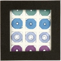 Square Quilling Set, Blue/green harmony