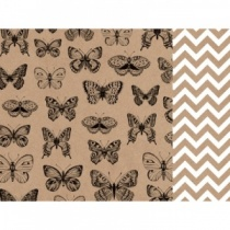 12 Inch Double Sided Paper, Butterflies & Chevrons