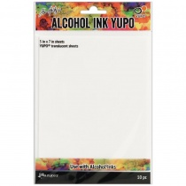 Tim Holtz Alcohol Ink Yupo Paper, 10 Translucent Sheets