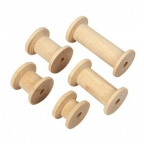 Wooden spools (10 pack) in various sizes
