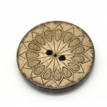 Pack of 3 Geometric Coconut Shell Round Buttons