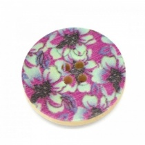 Purple/Jade Round Buttons