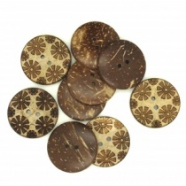 Flower Coconut Shell Round Buttons