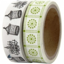 London Set of Two Washi Tapes (Birdcage and Chandeliers)