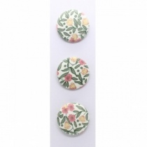 Set of 3 35mm Floral Fabric Covered Buttons
