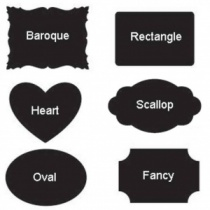 Large Chalkboard labels, 8 Per Sheet