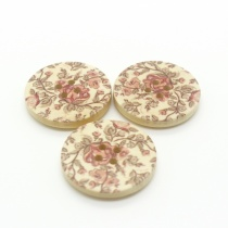 Rose garden wooden buttons