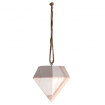 Diamond 3D Hanging Wooden Bauble
