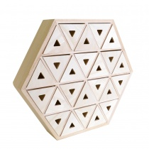 Hexagonal Wooden Advent Calendar Drawer Set
