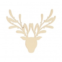Set of 3 Wooden Reindeer Silhouette Flourishes