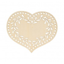 Set of 3 Wooden Heart Silhouette Flourishes