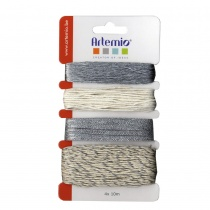 Assortment of Silver & Cream Threads, 40 metres in total