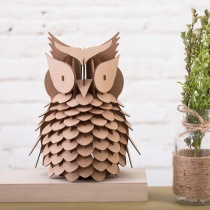 DIY Décor Cardboard Owl Kit