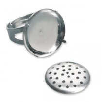 Jewelery ring with sieve, 20mm diameter