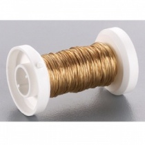 Gold coloured wire, 0.25mm x 30m
