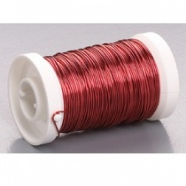 Red Metal thread 0.5mm x 50m