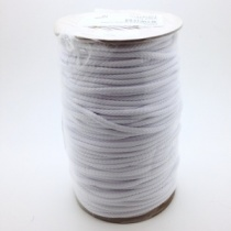 White polyester cord, 100m reel, 4mm width