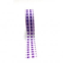 Purple Gingham Washi Tape, 10 metres