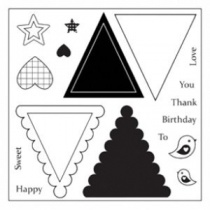 Mini Triangle Banner Stamp Sheet