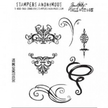 Sketch Elements Rubber Stamp Set by Stampers Anonymous