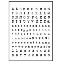 Typewriter Alphabet Clear Stamp Set