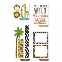 Zoo Fun Mini Flipflops Clear Stamp Set
