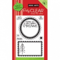 Large Christmas Tags Clear Stamp Set