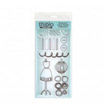 Claudine Hellmuth Cling Stamp set - Domestic