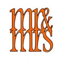 Mr & Mrs Outline Clear Stamp