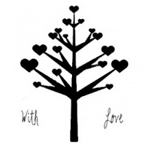 Marion Emberson With Love Tree Clear Stamp