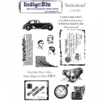 Brideshead Stamp Set by Indigo Blu, Foam Mounted