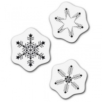 3 Snowflake Stamp Set
