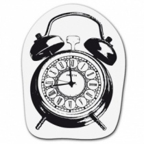Clear stamp small alarm clock
