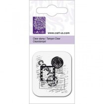 Copy postmark clear acrylic stamp