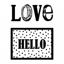 Love & Hello Clear Stamp Set