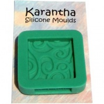 Square Spirals Karantha Silicone Mould