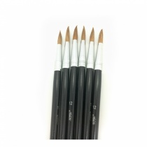 Set of Six School Paint Brushes
